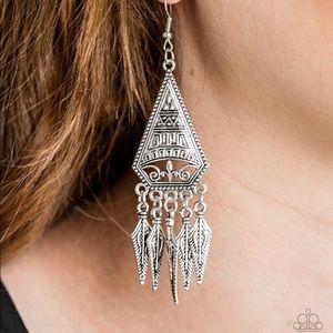 Me On Mayan Silver Earrings